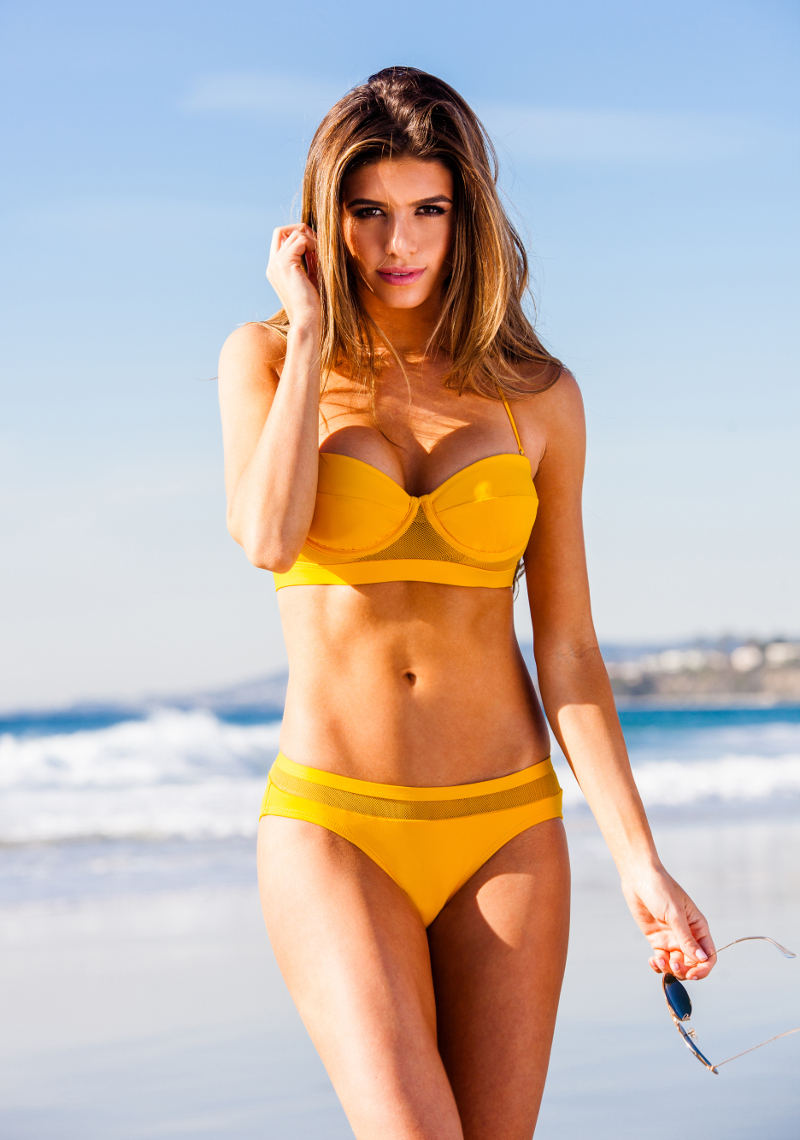 Heron Mesh Panel Bikini - Sunset